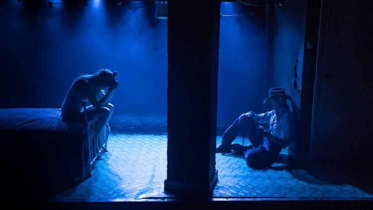 Fool for Love Lydia Wilson & Adam Rothenberg Photo Marc Brenner
