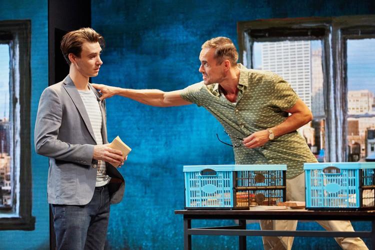 Good Canary-Rose Theatre Kingston- Harry Lloyd (Jack) Steve John Shepherd (Charlie) Photo Credit Mark Douet