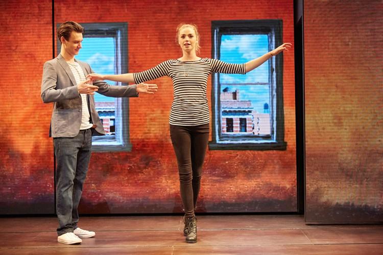 Good Canary-Rose Theatre Kingston- Harry Lloyd (Jack) and Freya Mavor (Annie) Photo Credit Mark Douet
