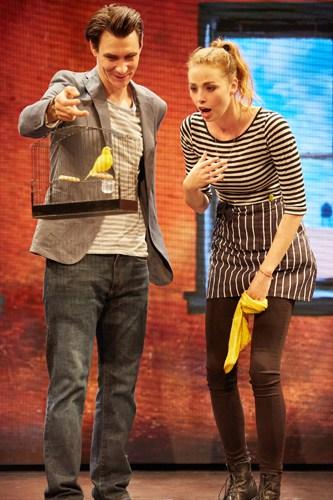 Good Canary-Rose Theatre Kingston-Harry Lloyd (Jack) and Freya Mavor (Annie) Photo Credit Mark Douet