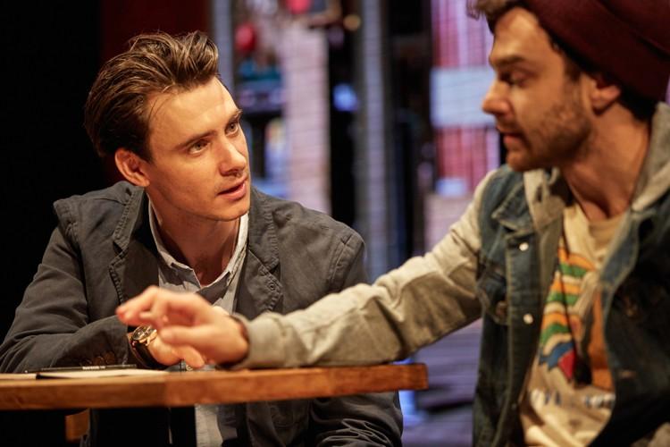 Good Canary-Rose Theatre Kingston Harry Lloyd (Jack) and Ilan Goodman (Jeff) Photo Credit Mark Douet