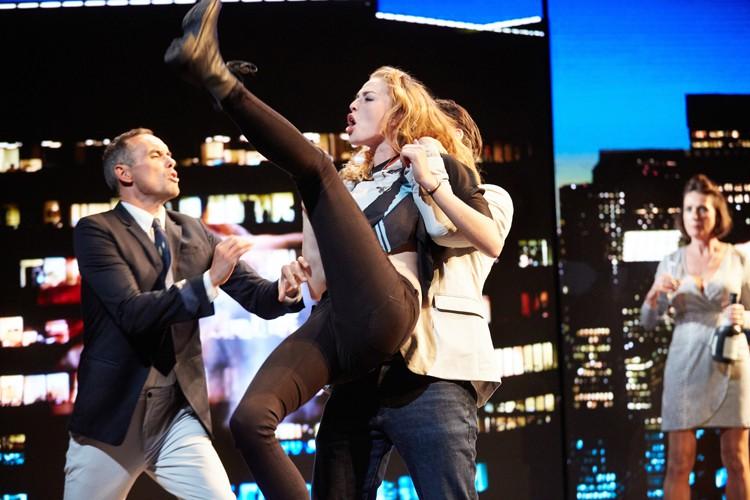 Good Canary-Rose Theatre Kingston- Steve John Shepherd (Charlie) and Freya Mavor (Annie) Photo Credit Mark Douet