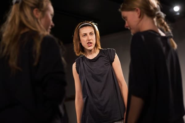 Alice De-Warrenne, Charlotte Green and Sian Eleanor Green in Under My Thumb at Greenwich Theatre