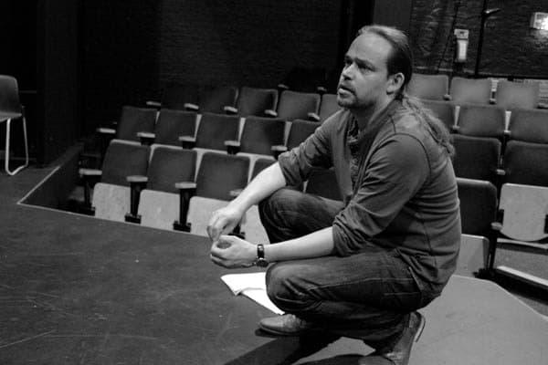 James Haddrell directing rehearsals for Under My Thumb at Greenwich Theatre