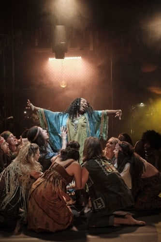a critique of hair a production by theatre ufc Closer to home, september's dallas-fort worth theater critics forum awards   kevin moriarty on the set of hair at the wyly theatre in dallas  child who played  good morning starshine presiding over this production.