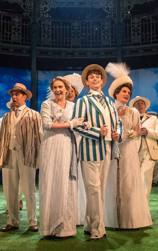 HALF A SIXPENCE Emma Williams 'Helen', Charlie Stemp 'Arthur Kipps' and the Company. Photo by Manuel Harlan