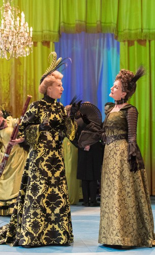 HALF A SIXPENCE Jane How 'Lady Punnet' & Vivien Parry 'Mrs Walsingham'. Photo by Manuel Harlan