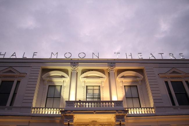 Half Moon Theatre at dusk