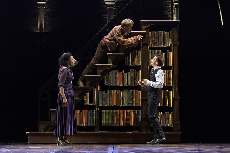 Left to Right - Noma Dumezweni (Hermione Granger), Paul Thornley (Ron Weasley) and Jamie Parker (Harry Potter) in the West End production of the new play Harry Potter and the Cursed Child, photo by Manuel Harlan