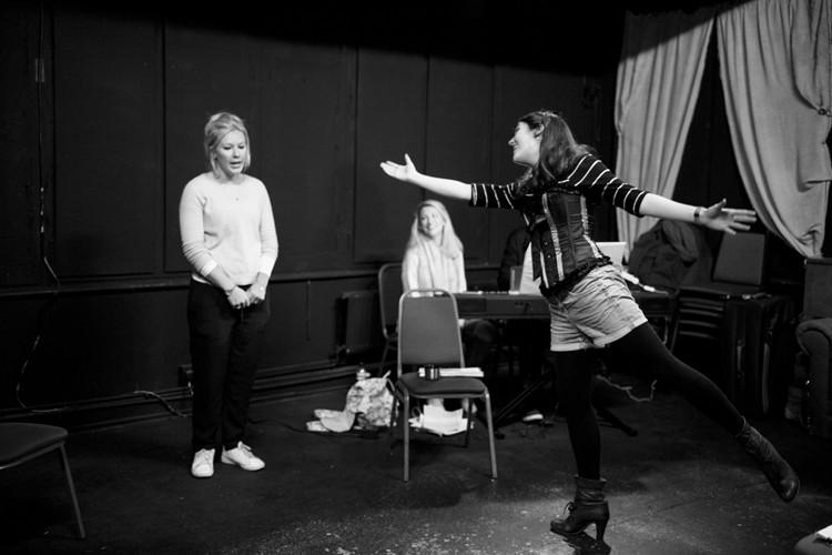 Her Aching Heart rehearsals: Rehearsals Credit - lhphotoshots