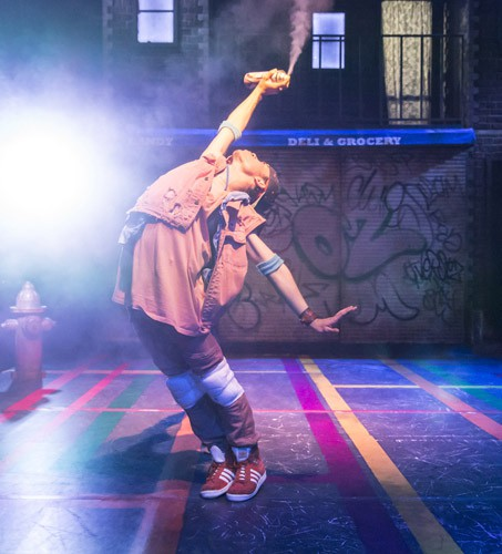 IN THE HEIGHTS. Jonathan Bishop 'Graffiti Pete'. Photo by Johan Persson