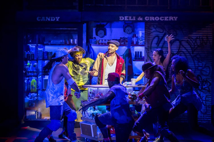 IN THE HEIGHTS. Sam Mackay 'Usnavi' and Company. Photo by Johan Persson