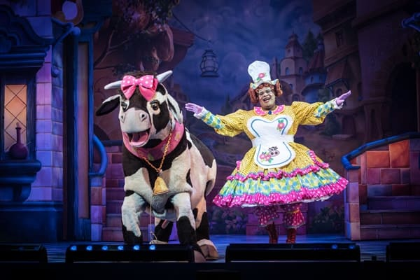Aretha the cow and Dame Trott - Photo credit Craig Sugden