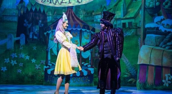 Charlotte Gooch as Princess Apricot, John Jack as Fleshcreep - Photo credit Craig Sugden