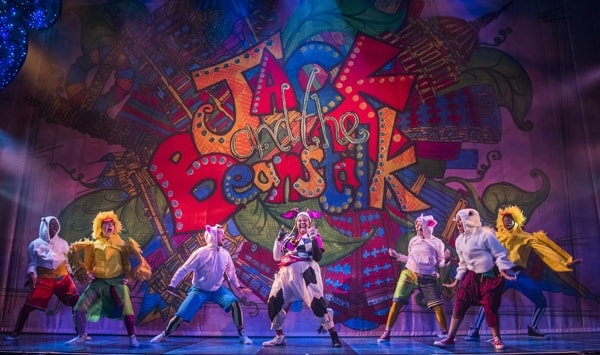 Kayla Meikle (Cow) and the Young Ensemble in Jack and the Beanstalk, Lyric Hammersmith. Photo by Tristram Kenton