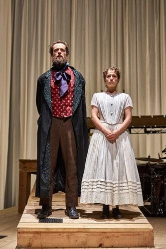Tim Delap (Rochester) Nadia Clifford (Jane Eyre) NT Jane Eyre Tour 2017. Photo by BrinkhoffMögenburg