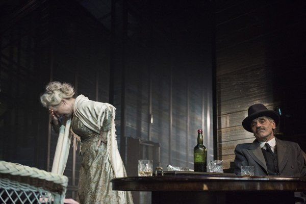 Long Days Journey Into Night Wyndhams Theatre: Jeremy Irons, James Tyrone - and Lesley Manville, Mary Tyrone - Photographer Hugo Glendinning