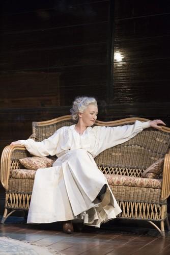 Long Days Journey Into Night Wyndhams Theatre: Lesley Manville - Mary-Tyrone - Photographer Hugo Glendinning