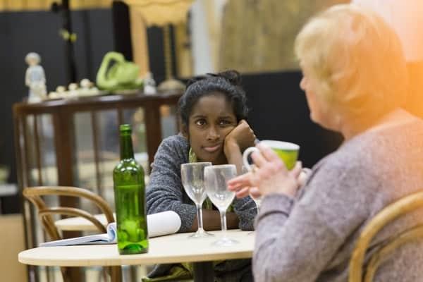 Anneika Rose (Jenny) and June Watson (Genevieve) rehearsing JOHN at the National Theatre (c) Stephen Cummiskey