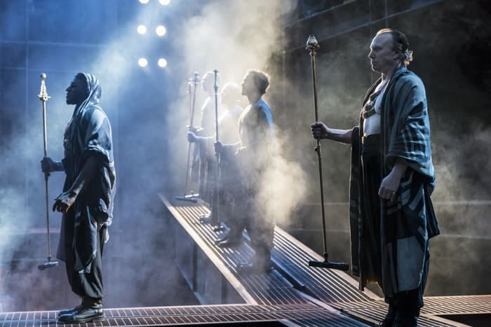 Phillip Browne and Sean Kingsley as Caiaphas and Annas. Photo Johan Persson