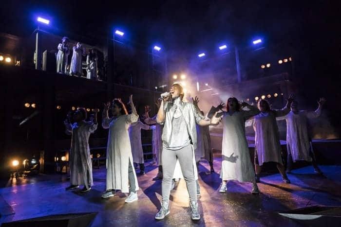 Tyrone Huntley as Judas. Photo Johan Persson
