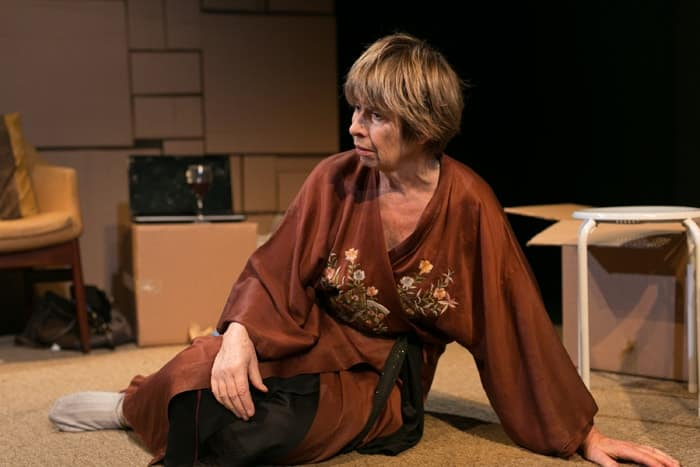 Brigit Forsyth in Killing Time at Park Theatre. Photo by Darren Bell