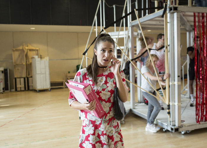 Cordelia Farnworth (Nicola) Kinky Boots Rehearsal. Photo by Helen Maybanks
