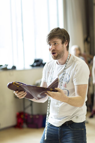 David Hunter (Charlie Price) Kinky Boots Rehearsal. Photo by Helen Maybanks