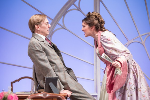 Grace Molony as Lady Windermere and Joshua James as Lord Windermere - Credit Marc Brenner