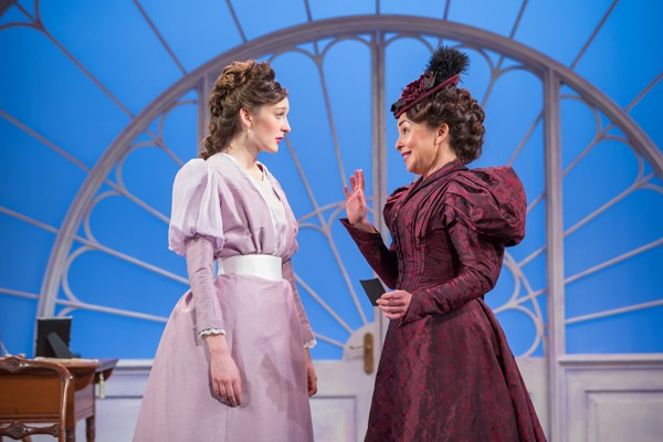 Grace Molony as Lady Windermere and Samantha Spiro as Mrs Erlynne (2) - Credit Marc Brenner
