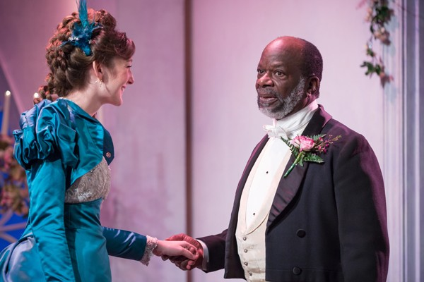 Joseph Marcell as Lord Lorton and Grace Molony as Lady Windermere - Credit Marc Brenner