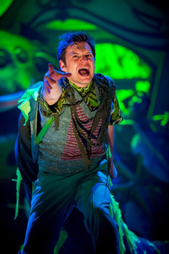 Sam Lupton as Seymour in Little Shop of Horrors. Photo Credit Matt Martin