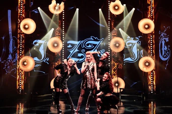 Jodie Jacobs(Bridget Sullivan), Bjørg Gamst (Lizzie Borden), Eden Espinosa (Emma Borden), Bleu Woodward (Alice Russell) Photo by Søren Malmose