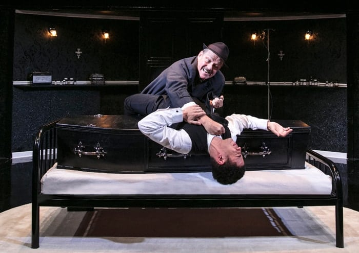 LOOT - Christopher Fulford (Truscott) and Sam Frenchum (Hal) Photo by Darren Bell