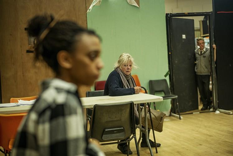 l-r Janet Etuk (Emma), Anna Calder-Marshall (Barbara), Bobby Stallwood (Jason) - Credit Sarah Lee