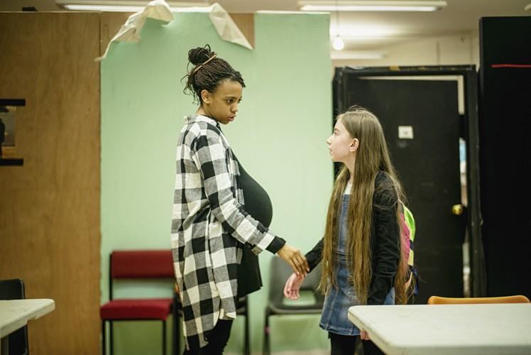 l-r Janet Etuk (Emma), Darcey Brown (Paige) - Credit Sarah Lee