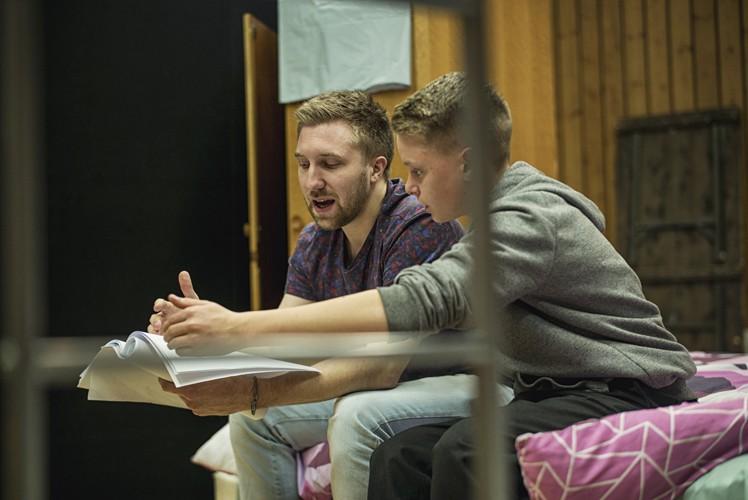 l-r Luke Clarke (Dean), Bobby Stallwood (Jason) - Credit Sarah Lee