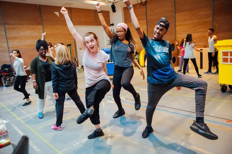 Aladdin Rehearsals at Lyric Hammersmith. Photo by Helen Murrary