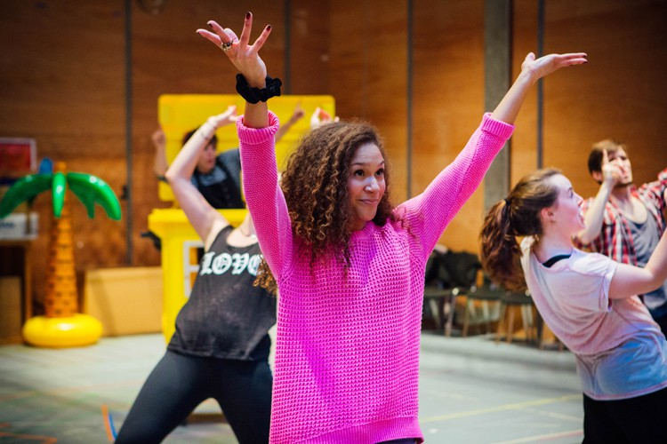 Allyson Ava-Brown as Jasmine in Aladdin Rehearsals at Lyric Hammersmith. Photo by Helen Murrary