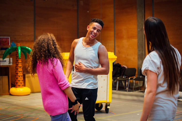 Karl Queensborough as Aladdin in Aladdin Rehearsals at Lyric Hammersmith. Photo by Helen Murrary