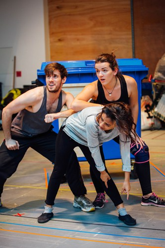 Young Ensemble in Aladdin Rehearsals at Lyric Hammersmith. Photo by Helen Murrary