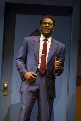 Cedric Neal (Berry Gordy) in Motown the Musical at the Shaftesbury Theatre. Photo credit Alastair Muir