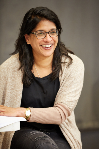 Indhu Rubasingham in rehearsals for The Motherf--ker with the Hat at The National Theatre. Photo by Mark Douet