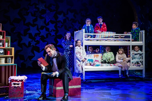 NATIVITY! THE MUSICAL. Daniel Boys 'Mr Maddens' and the children of St Bernadette's School. Photo by Richard Davenport