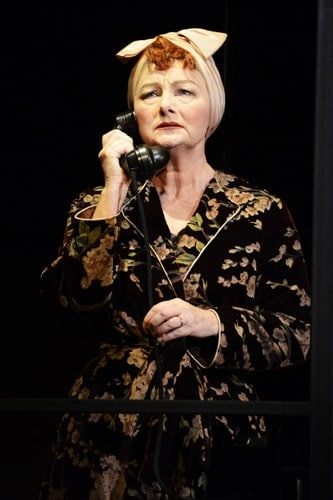 Abigail McKern in North by North West at Theatre Royal Bath. Credit Nobby Clark