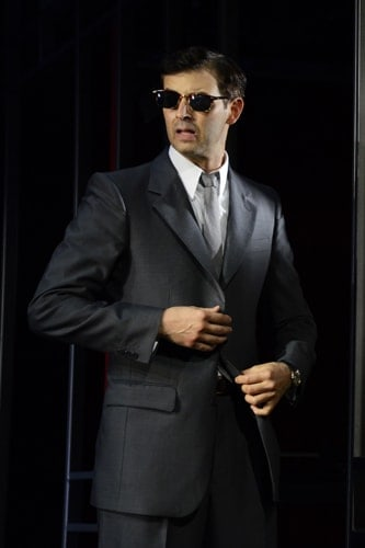 Jonathan Watton in North by North West at Theatre Royal Bath. Credit Nobby Clark