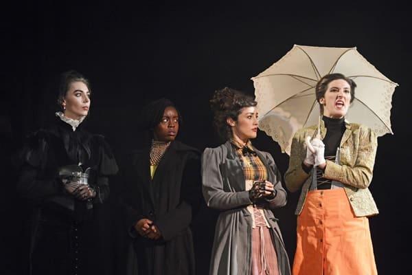 Elizabeth McCafferty, Amarah Jae St.-Aubyn, Rebbeca Smith, Leah Gaffey in NYT's Jekyll and Hyde - CREDIT Nobby Clark