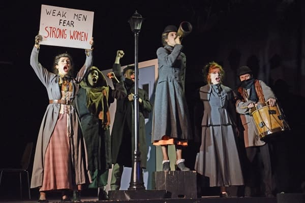 The cast of the NYT's Jekyll and Hyde at the Ambassadors Theatre CREDIT Nobby Clark