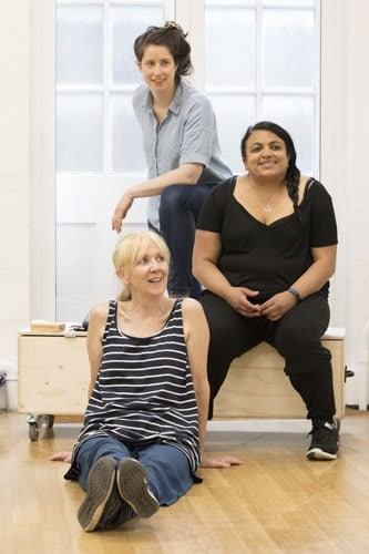 Liz Crowther and Rina Fatania with Director Caroline Byrne. Photo Johan Persson.