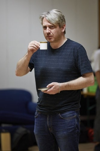 Thomas Arnold in rehearsal for 'Oslo' - photo credit Brinkhoff Mögenberg.